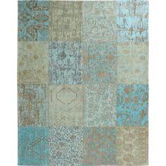 Zwartwit patchwork vloerkleed met vintage uitstraling - Slaapkamer ...
