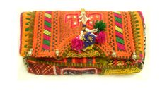 Hand Embroidered Indian Tribal Boho fabric purse Gypsy by ArtMela, $69.00