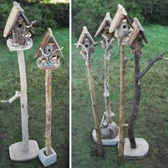Funky Birdhouses!! I want them all!