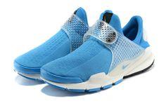Hot Sale Nike Sock Dart Oreo Slip ON Sky Blue Powder Blue Runing Shoes/UK Trainers