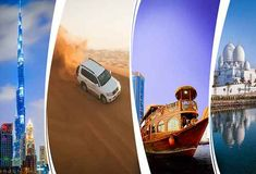 Experience Dubai City Tour with Top Tour Itinerary. Visit Old & Modern Dubai Sightseeing Attractions like Museum, Burj Khalifa, Burj Al Arab, Atlantis, Palm Dubai Tourist Attractions, Tourist Places, Tourist Spots, Best Honeymoon Packages, Desert Safari Dubai, Dubai Holidays, Top Tours, Dubai City