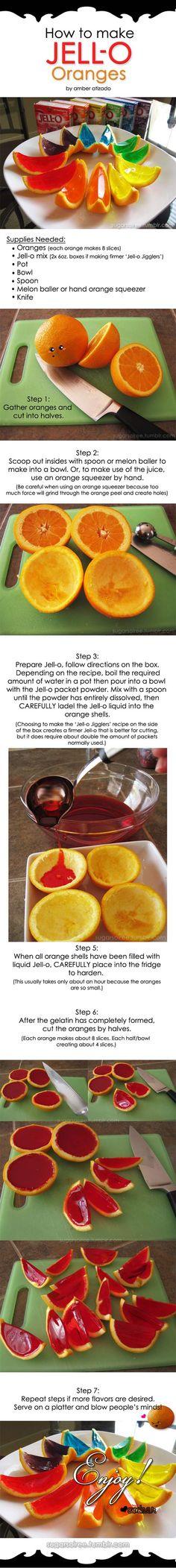 Jell-O Oranges Tutorial…