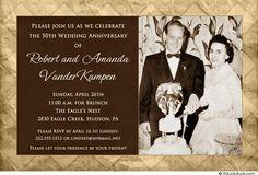 Personalized 50th Anniversary Invitation