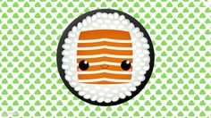 Kawaii Sushi Desktop Wallpaper