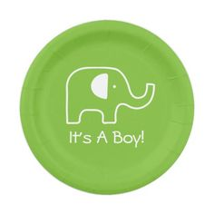 Baby Elephant 7 Inch Paper Plate