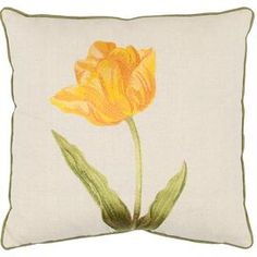 Blossom Reversible Pillow in Gold (Set of 2)