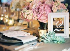 Picture Frame | Table Numbers | Elegant Table Numbers | Wedding Table Number