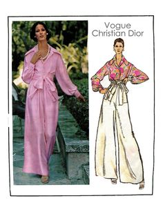 Vintage 1970s Christian Dior Vogue 2859  by DesignRewindFashions, $55.00