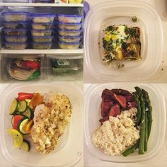 No #running for me today but this is the third Sunday in a row that I've done #mealprepsunday  It's so awesome knowing that I have healthy options prepped for every day of the week! Gotta balance out the weekend   Meal 1: Quiche with a s&$@ ton of veggies  Meal 2: Roasted chicken with zucchini/squash/mini peppers  Meal 3: Flat iron steak with brown rice and steamed asparagus by sacopey