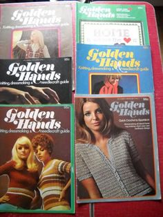 6 Vintage Golden Hands Magazines by sewsomore on Etsy, $12.00