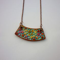 Colorful bib necklace, Bib dots necklace, Abstract necklace, Colorful necklace, Everyday jewelry, Unique gift for her, Handmade jewelry