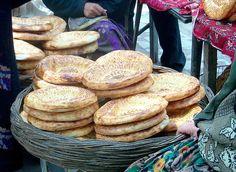 Bread in the Ferghana Market, Ferghana Valley, Uzbekistan by David, via Flickr