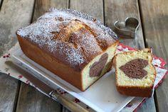 Rezept für Vanille-Rührkuchen mit Schokoherz