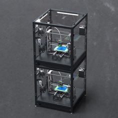 An awesome Pirntrbot pic! 3D Printer stackable enclosure and filtration systems…