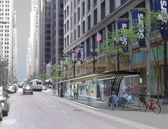 Chicago BRT Station