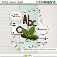 Quality DigiScrap Freebies: For the Love of Scrap mini kit freebie from Kristin Aagard Designs