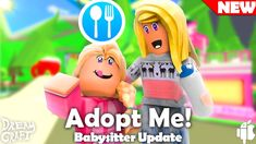 Trading Adopt Me Roblox Roblox Adoption Babysitter