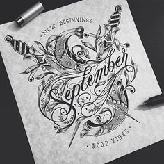 I have been a fan of typography and lettering since I was a kid. I was never really good at it mostly because I tend to think that my end result is never as good as others I have discovered. Typography Sketch, Cool Typography, Graffiti Lettering, Typography Letters, Graphic Design Typography, Lettering Design, Handwritten Typography, Inspiration Typographie, Typography Inspiration