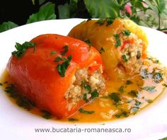 Rețetă extrem de simplă - A. Romania Food, Cooking Recipes, Healthy Recipes, Yummy Recipes, Stuffed Hot Peppers, Everyday Food, My Favorite Food, Good Food, Food And Drink