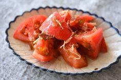 簡単トマトサラダ(和え物)の写真