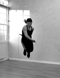 "jump rope routine to ""Give Me Everything"" by Pitbull and feat. Ne-Yo Afrojack & Nayer"
