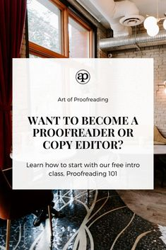 Learn what it takes to start freelance proofreading or start a side hustle. This free introductory course to proofreading will give you an overview of the industry plus lots more. Earn Money From Home, Make Money Online, How To Make Money, How To Become, Copy Editor, Proofreader, Trail, Business Tips, Online Business