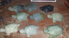 Hand carved jade turtles $7.99 each at The Sand and Stone Gallery in Holland, MI.