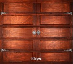 A wooden garage door in Hinged style.