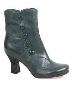 Another great find on #zulily! Teal Kitty Leather Ankle Boot #zulilyfinds