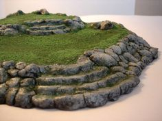 Miniature Terraced Hill (Large) Terrain. $30.00, via Etsy.