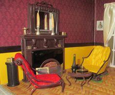 221B Baker Street - fireplace