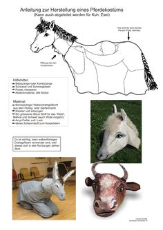 Biblisches Basteln  Pferdekostüm Horses, Animals, Image, Horse Costumes, Camel, Creative, Craft, Animaux, Horse