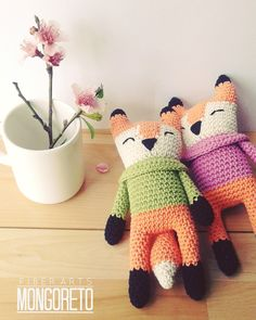 #diy your own #amigurumi #fox pattern by #mongoreto https://www.etsy.com/listing/228501087/fox-amigurumi-pattern?ref=shop_home_feat_1