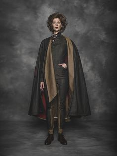 Sigrid Viir for Chapter Two by Reval Denim Guild. Raw Revalian Cape, Eldar Suit and Visionary Pants