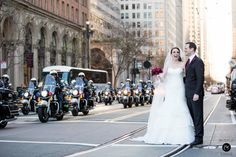 Motorcycle police drive by - Wedding at Terra Gallery, San Francisco {Photo by Bustle & Twine}