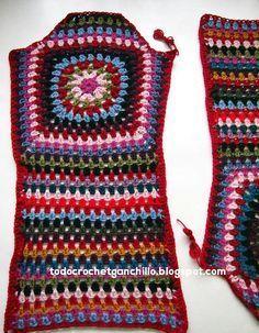 Aprende a tejer tu abrigo vintage / Paso a paso | Todo crochet