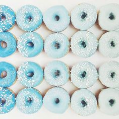 Light Blue & White M&M's Milk Chocolate Candy in Bulk Gradient Blue Donuts!