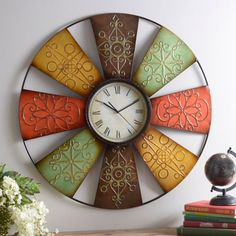 Save time (and money) by shopping Kirkland's selection of unique wall clocks! No matter wall clock or desk clock, you'll find the right timepiece for you! Outdoor Wall Decor Large, Outdoor Walls, Cream Clocks, Oktoberfest Decorations, Wal Art, Clay Wall Art, Wall Clock Design, How To Make Wall Clock, Unique Wall Clocks