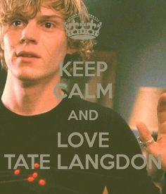 Keep calm And Love Tate Langdon