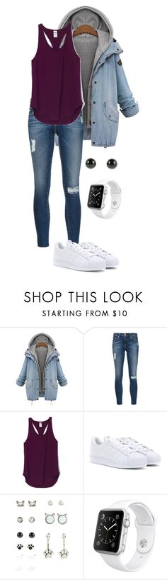 """Untitled #36"" by elena-b-n ❤ liked on Polyvore featuring AG Adriano Goldschmied, adidas and Apple"