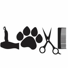 Vector File, Svg File, Vector Art, Dog Grooming Styles, Dog Grooming Business, Dog Silhouette, Vinyl Designs, Dog Gifts, Cat