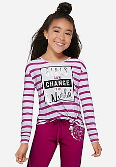 Positive Message Striped Tee