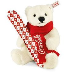 Steiff Alpaca Coca Cola Teddy Bear Limited Edition of 1500