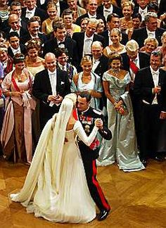 Mette-Marit Tjessem Høiby and HRH Crown Prince Haakon of Norway  marry on August 25, 2001