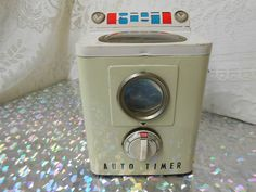 RARE Vintage 1950's Japan Trademark Modern Toys Washing Machine Battery Operated