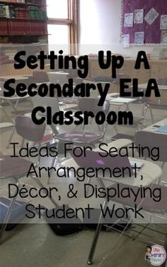 During the school year, your classroom is a second home to you and students. You want it to be functional but also comfortable and welcoming. Middle school and high school English Language Arts teachers discussed their classrooms: seating arrangements, de