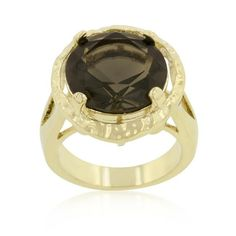 Brown Cubic Zirconia Organic Ring, size : 09