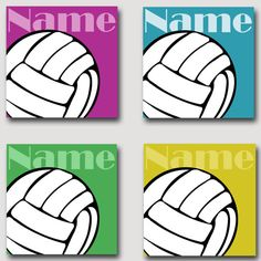 Volleyball 1 Canvas Painting FREE Personalization by rjkart4u