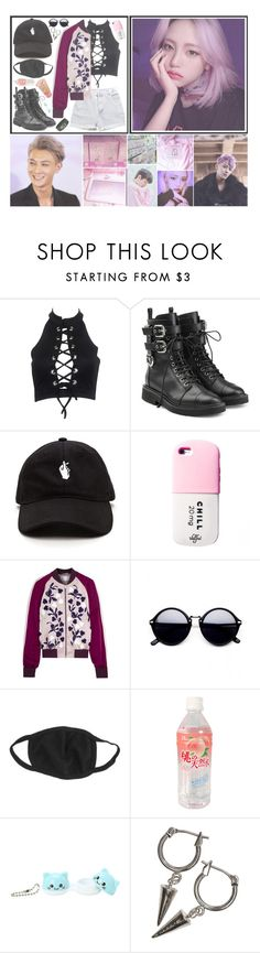 """""""   Yujin    OOTD & Hanging out with Tao    Man we got fire. Man we got swag. Man I got family. God damn you just mad"""" by the-demon-in-me ❤ liked on Polyvore featuring Levi's, Giuseppe Zanotti, Jonathan Saunders, Ankit and H&M"""