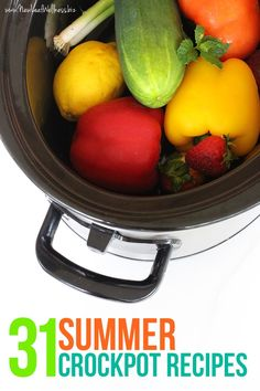 If you think crockpots are only for the winter, think again. Here are 31 summer crockpot recipes inspired by BBQs, sunshine, and fresh summer produce. YUM.